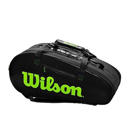 Raqueteira Wilson Super Tour 2 Competition X9 Preto/Verde