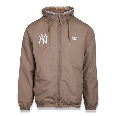 Jaqueta Quebra vento New York Yankees Alkaline Taped Marrom - New Era