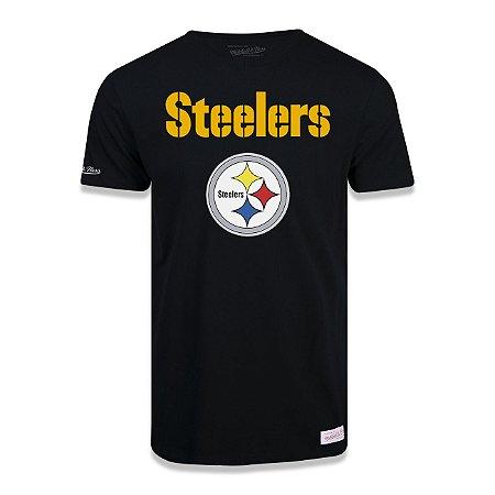 Camiseta NFL Pittsburgh Steelers Estampada Preto - M&N