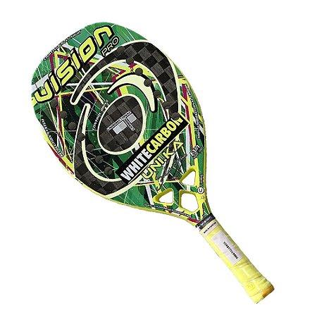 Raquete Beach Tennis Vision White Carbon Silvia Storari 2020