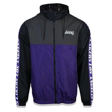 Jaqueta Quebra vento Los Angeles Lakers 90s Cont Block - New Era