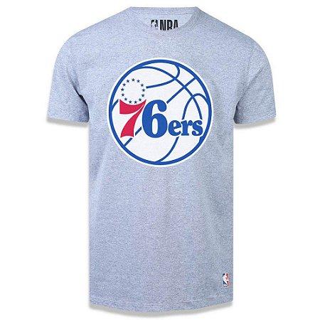 Camiseta NBA Philadelphia 76ers Big Logo Cinza
