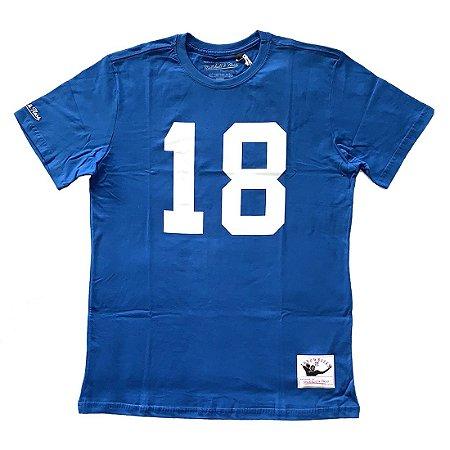 Camiseta NFL Indianapolis Colts Player 18 Peyton Manning - M&N
