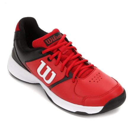 Tenis Wilson Open All Court Masculino Vermelho e Preto