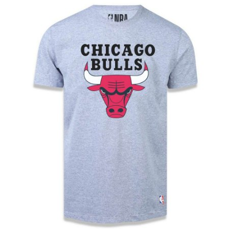Camiseta Chicago Bulls Big Logo Cinza - NBA