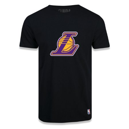 Camiseta Los Angeles Lakers Vinil Preta - NBA