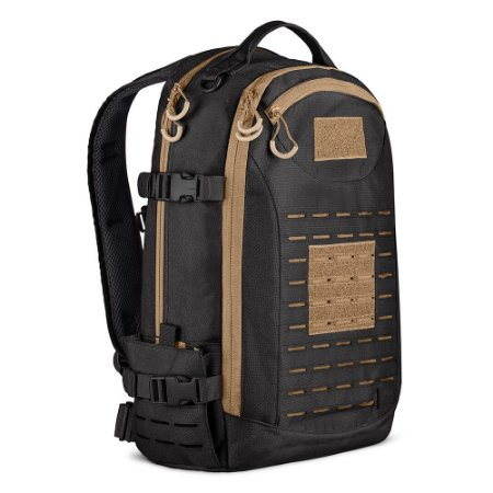 Mochila Invictus Rusher 2.0 40L Preto e Coyote