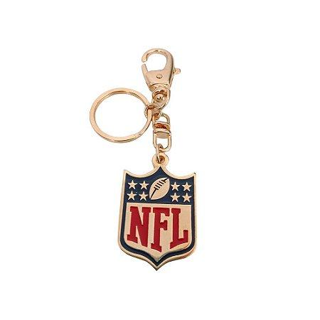 Chaveiro NFL Logo Metal Banhado a Ouro - NFL