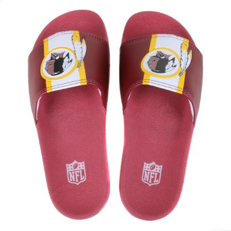 Chinelo Slide NFL Washington Redskins Vermelho e Amarelo