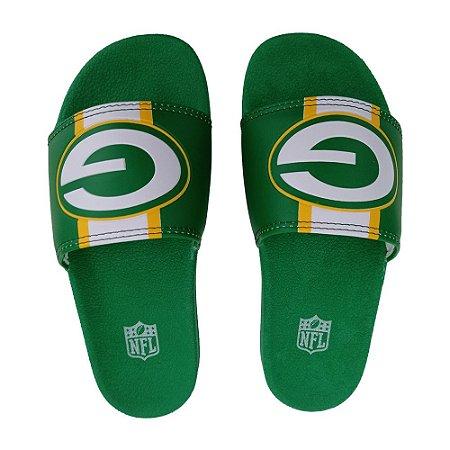 Chinelo Slide NFL Green Bay Packers Verde e Amarelo