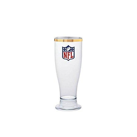Taça Tulipa NFL Logo Linha Ouro 260ml Acrílico - NFL