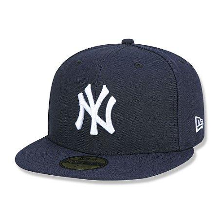 Boné New York Yankees 5950 Game Cap Fechado Azul - New Era