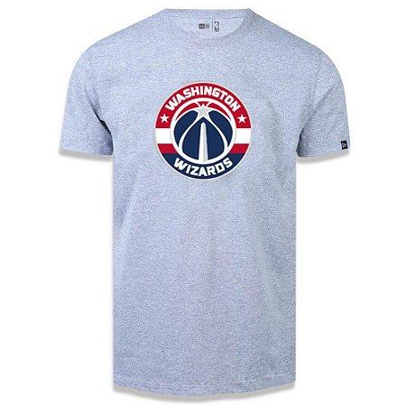 Camiseta New Era Washington Wizards Basic Logo NBA Cinza