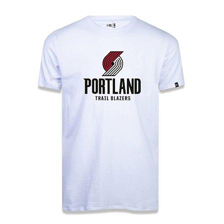 Camiseta New Era Portland Trail Blazers Basic Logo NBA Branco
