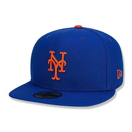 Boné New Era New York Mets 5950 Game Cap MLB Fechado Azul