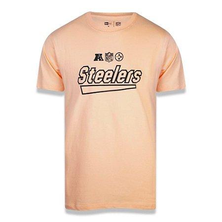 Camiseta New Era Pittsburgh Steelers Team Letters Laranja
