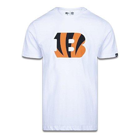 Camiseta New Era Cincinnati Bengals Logo Time NFL Branco