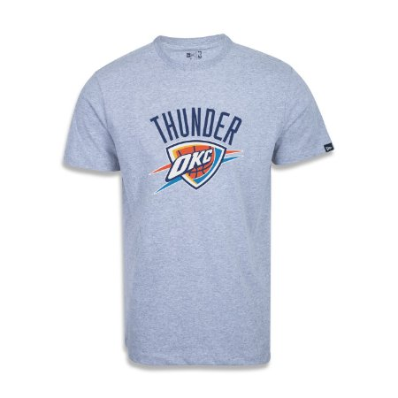 Camiseta New Era Oklahoma City Thunder Basic Logo NBA Cinza