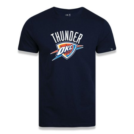 Camiseta New Era Oklahoma City Thunder Basic Logo NBA Azul