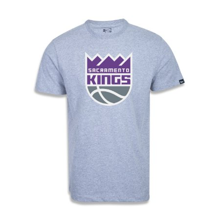 Camiseta New Era Sacramento Kings Basic Logo NBA Cinza