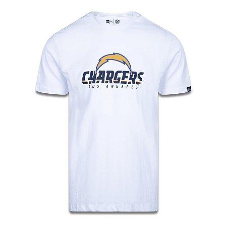 Camiseta New Era Los Angeles Chargers Logo Time NFL Branco