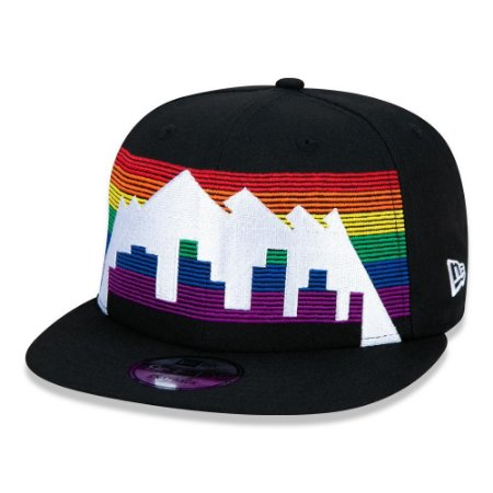 Boné New Era Denver Nuggets 950 CS19 Alt Preto Aba Reta