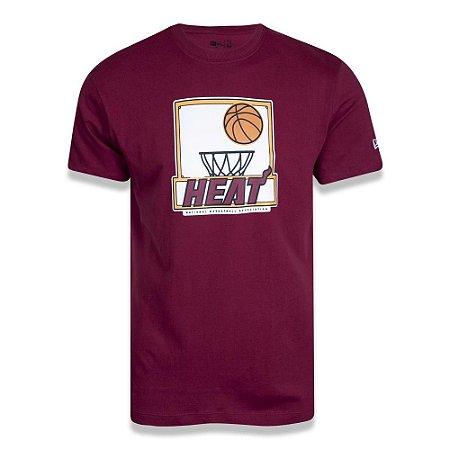 Camiseta New Era Miami Heat Sport Shoot NBA Vermelho