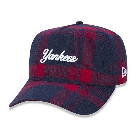Boné New Era New York Yankees 940 A-Frame Plaid Script