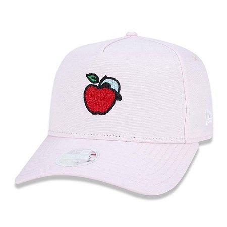 Boné New Era 920 Fruit Fresh Maçã Aba Curva Feminino Rosa