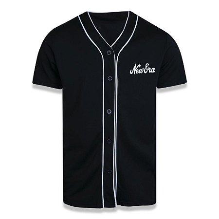 Camisa Botão Jersey New Era Core Branded Preto