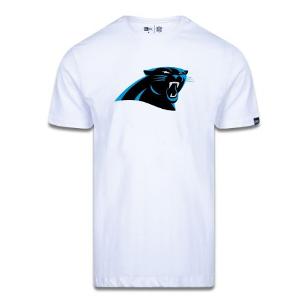 Camiseta New Era Carolina Panthers Logo Time NFL Branco