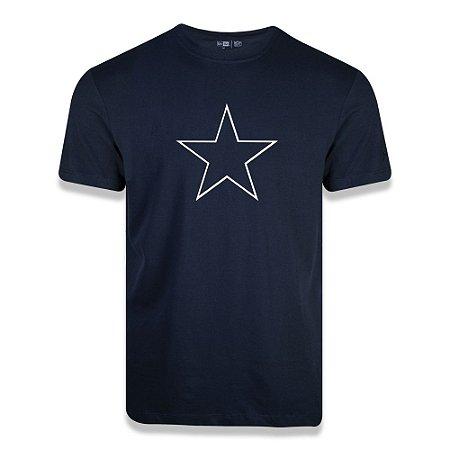 Camiseta New Era Dallas Cowboys Logo Time NFL Azul Marinho