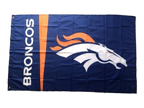 Bandeira Denver Broncos NFL - Grande