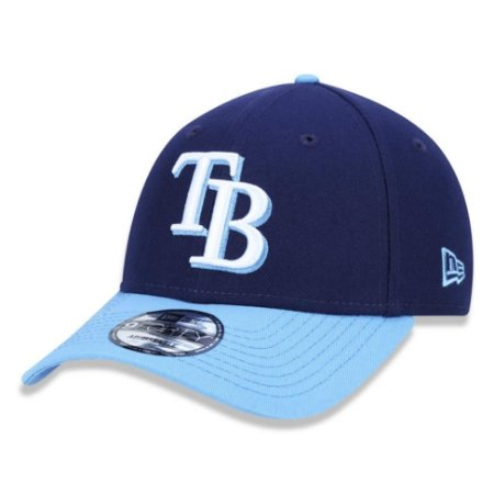 Boné New Era Tampa Bay Rays 940 Team Color Aba Curva Azul