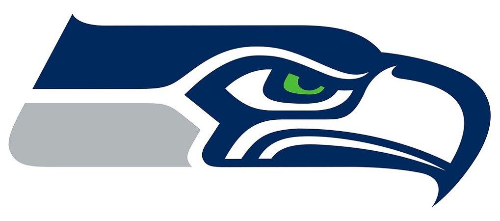 Adesivo Seattle Seahawks NFL - Vinil Brilho 15x7cm