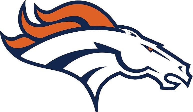 Adesivo Denver Broncos NFL - Vinil Brilho 15x9cm