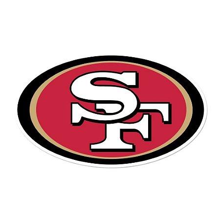 Adesivo San Francisco 49ers NFL - Vinil Brilho 15x9cm
