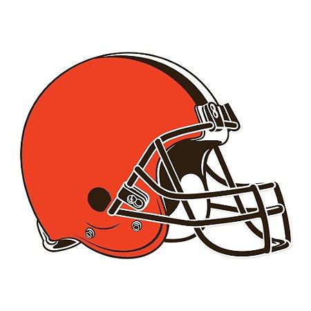 Adesivo Cleveland Browns NFL - Vinil Brilho 15x11cm