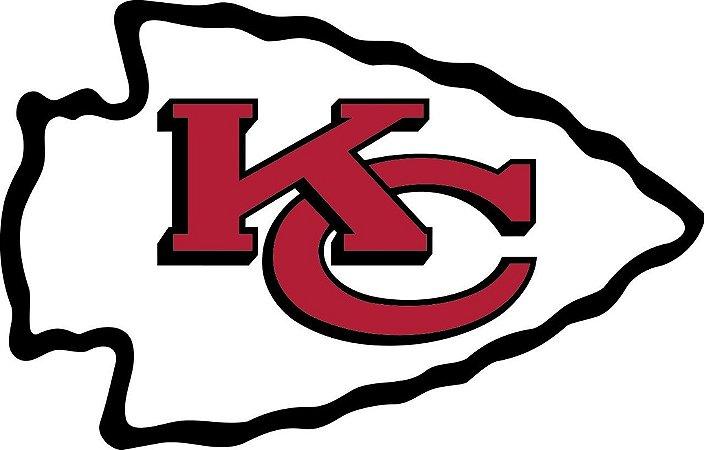 Adesivo Kansas City Chiefs NFL - Vinil Brilho 15x9cm