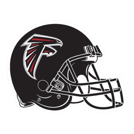 Adesivo Atlanta Falcons NFL - Vinil Brilho 15x12cm