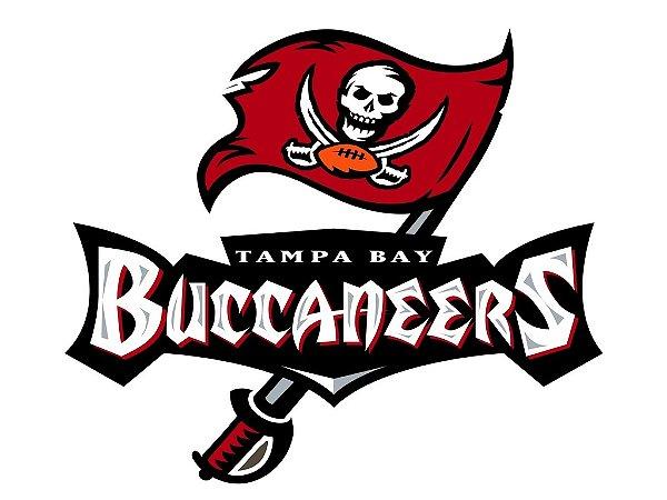 Adesivo Tampa Bay Buccaneers NFL - Vinil Brilho 15x13cm