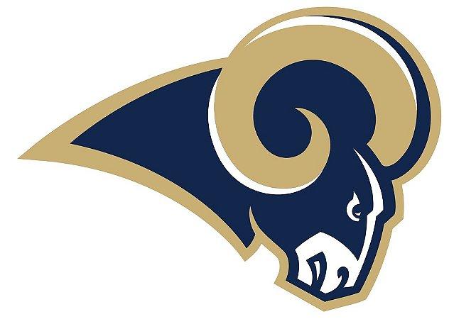 Adesivo Los Angeles Rams NFL - Vinil Brilho 15x11cm