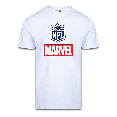Camiseta NFL Logo Marvel Branco