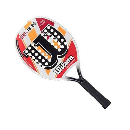Raquete Wilson Beach Tennis WS 18.20 Branco Vermelho