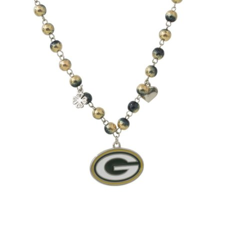 Colar Green Bay Packers NFL Corrente C/ Pingentes Metálicos