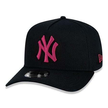 Boné New Era New York Yankees 940 Veranito Preto e Rosa Pink
