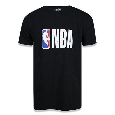 Camiseta New Era NBA Basic Logo Preto