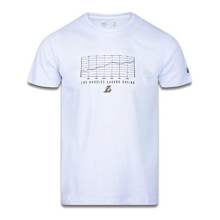 Camiseta New Era Los Angeles Lakers NBA Tech Grafico Branco