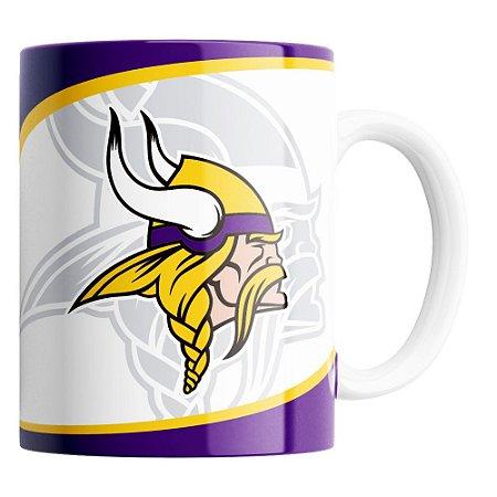 Caneca NFL Minnesota Vikings de Porcelana 325ml