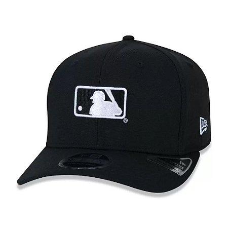 Boné New Era 950 Glow In The Dark MLB Logo Aba Curva Preto